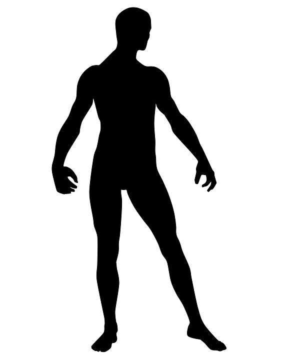 naked man silhouette